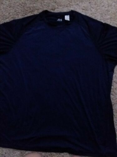 NWOT A4 Mens Athletic Shirts Size 3X Crewneck  SS Navy Blue Dri Fit
