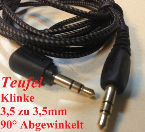 Teufel klinke 3.5 zu 3,5mm 90° Abgewinkelt Klinken 1,5 meter vergoldet Aux Audio