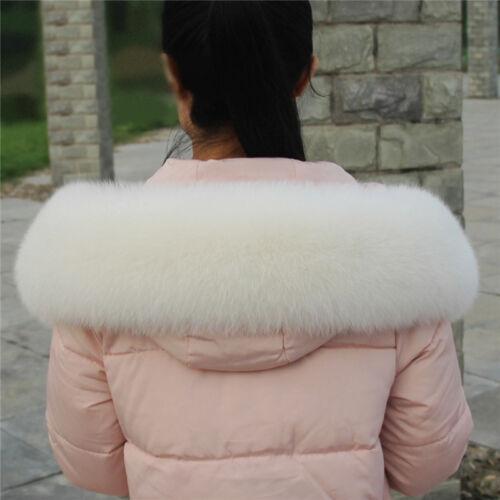 Real Vulpes Lagopus Fox Fur Collar Scarf Fluffy Shawl Wrap Stole Real Fur Cuffs