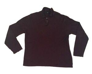 Ermenegildo-Zegna-Men-039-s-Vintage-Long-Sleeve-Brown-Sport-Shirt-Size-XL