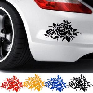 Moda-rosa-flor-vid-coche-capo-cuerpo-ventana-pegatina-coche-auto-calcomania