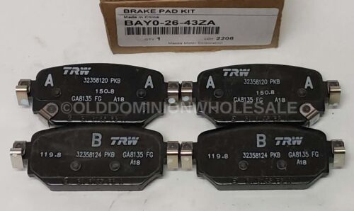 BAY0-26-43ZA Brake Pad Set RR Rear Caliper NEW OEM Genuine 2017-18 Mazda 3