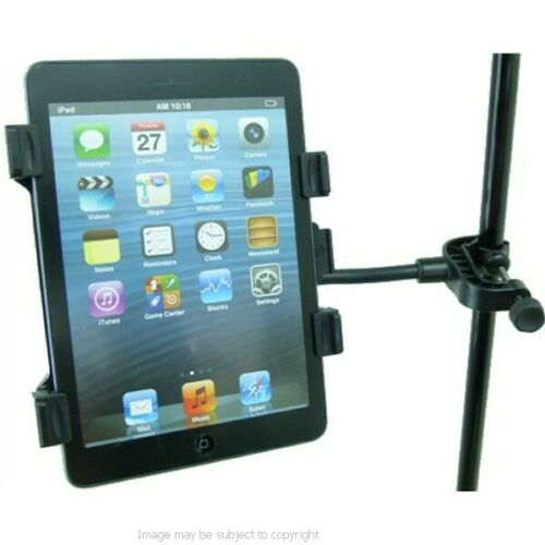 "Tablet PC Holder Mount for Music Microphone Stands fits 7/"" to 10.1/"" Models."