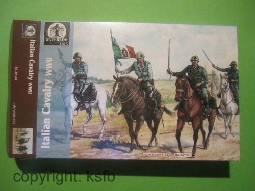 1:72 Waterloo1815 #001 WKII Italien Kavallerie Italian Cavalry Figuren Soldaten