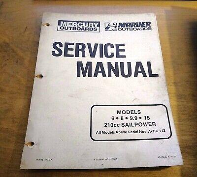 MERCURY OUTBOARD 6 8 9.9 210 SAILPOWER SERVICE MANUAL