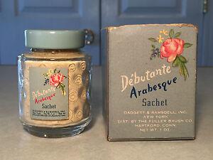 NEW-Vintage-DEBUTANTE-ARABESQUE-SACHET-Perfumed-Sachet-Scented-Powder-Orig-Box