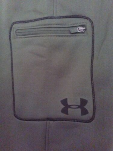 Under Armour Cold Gear Fleece Training Pants Youth Sizes S XL Green 1267764 304