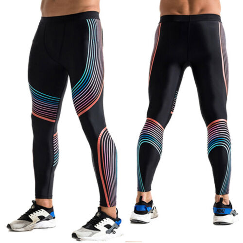 Men/'s Compression Legging Gym Running Basketball Long Pants Cool Dry Tight fit