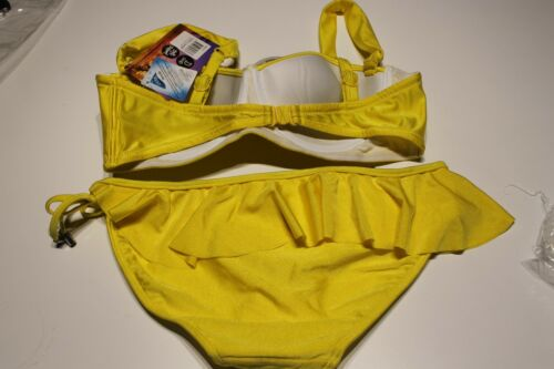 NEW HEAVEN BRIGHT YELLOW UNDERWIRE BIKINI PANT  SET SIZE 14 FITS D CUP