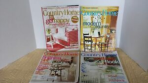 home magazines lot of 4 primitives country cottage chic decorating
