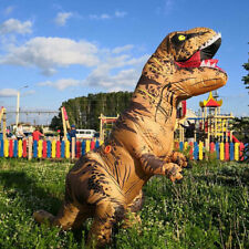 Halloween Xmas T-REX Inflatable Dinosaur Costume Jurassic Dress Blowup Outfit