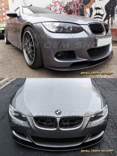 PAINTED GLOSSY BLACK 06-09 BMW E92 E93 M-TECH M-SPORT K 2ND FRONT LIP SPLITTER