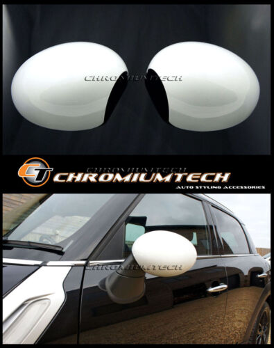 Mini R55 R56 R57 R58 R59 R60 R61 Blanco Ala Espejo Cap Cubiertas Para Pliegue Manual