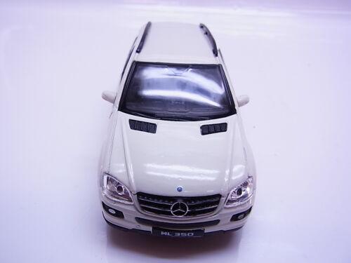 S211Welly MB Mercedes Benz ML 350 W164 Modellauto weiß 1:41,5 Pull Back NEU