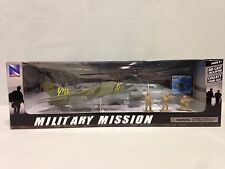 MILITARY MISSION PLAY SET, 1:55 BELL AH-1Z COBRA, TORNADO JET, SOLDIERS,NEW RAY