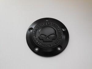 Harley-Davidson-Skull-Totenkopf-Timer-Zuendungsdeckel-schwarz-Twin-Cam-2560087