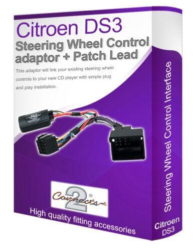 tallo estéreo de coche adaptador interfaz CITROEN DS3 volante control de plomo