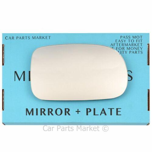 Droit Côté Conducteur Flat Wing Door Mirror Glass for SUZUKI Swift 1996-2004 Plaque