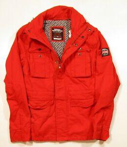 Details zu Superdry Men's Classic Rookie Full Zip Moorside Orange Military Jacket
