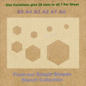 Simple-Shape-Hexagon-Stencil-Strong-350-micron-Mylar-not-Hobby-stuff-SSS006