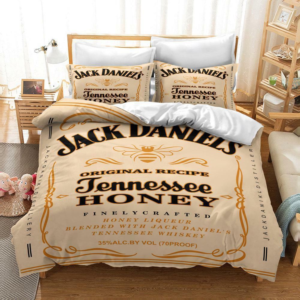 Neu 3 Tlg Jack Daniels Bettwäsche 135x200 200x200 240x220
