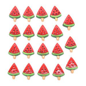 20Pcs-Red-Watermelon-Decoration-Crafts-Beads-Flatback-Cabochon-DIY-Accessor-DD