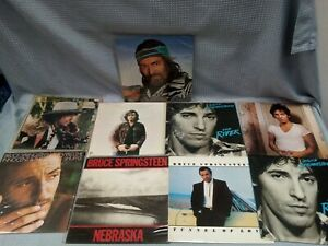 "Job Lot Bundle Of 9 12"" Vinyls Bruce Springsteen Bob Dylan Willie Nelson #122"