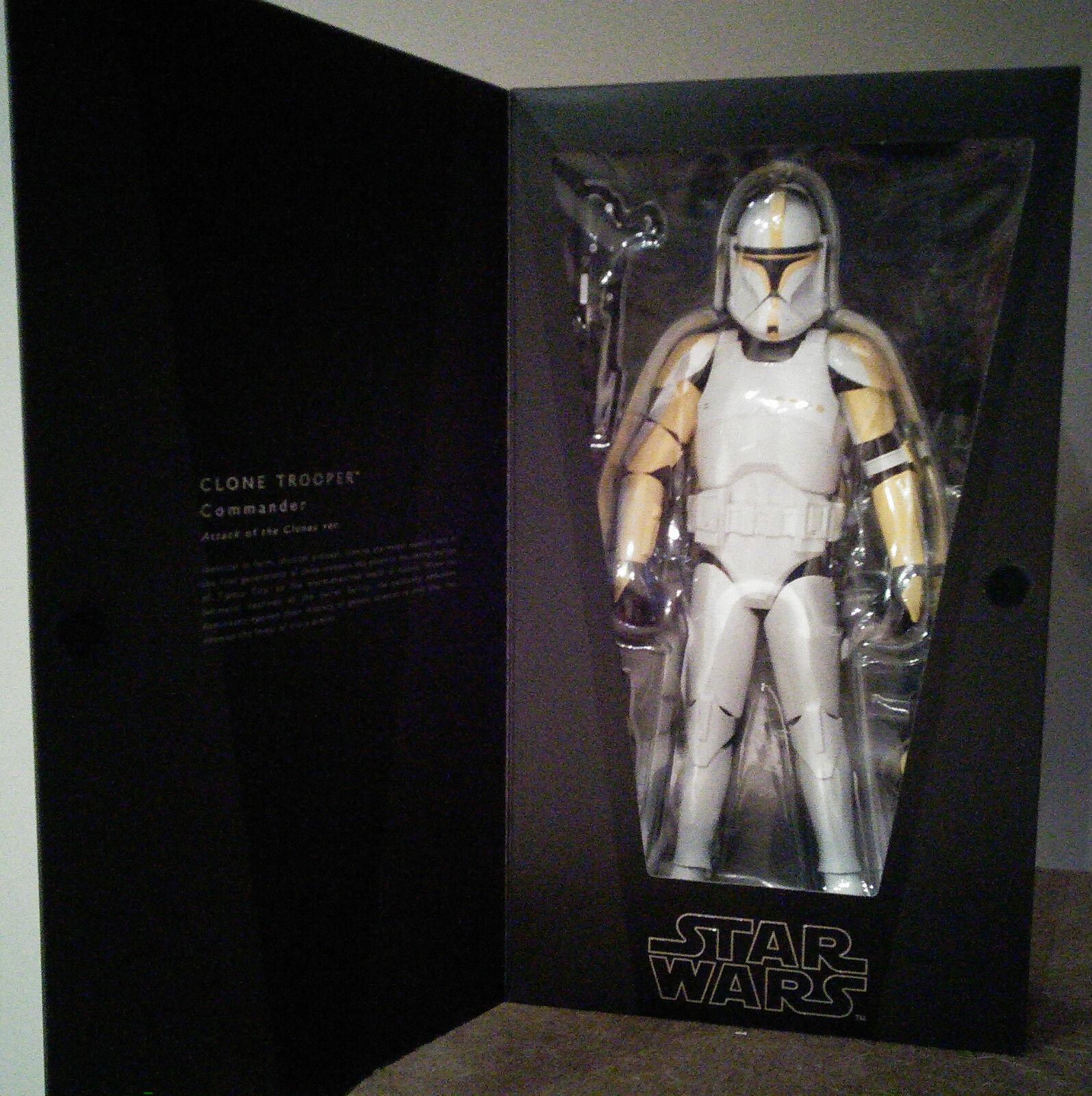 RAH Medicom Star Wars 1 6 Clone Trooper Commander (AOTC version)  (MIB)