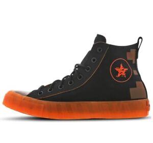 CONVERSE-Chuck-Taylor-All-Star-UNT1TL3D-High-Black-Orange-Men-039-s-Shoes-168250C