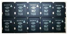 -10- Stück! * Memory Stick Micro M2 * 1 GB * Sony (KEINE microSD !!!)