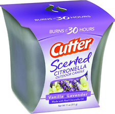 Cutter 11 oz. Vanilla and Lavender Citronella Outdoor Candle Mosquito Repellant