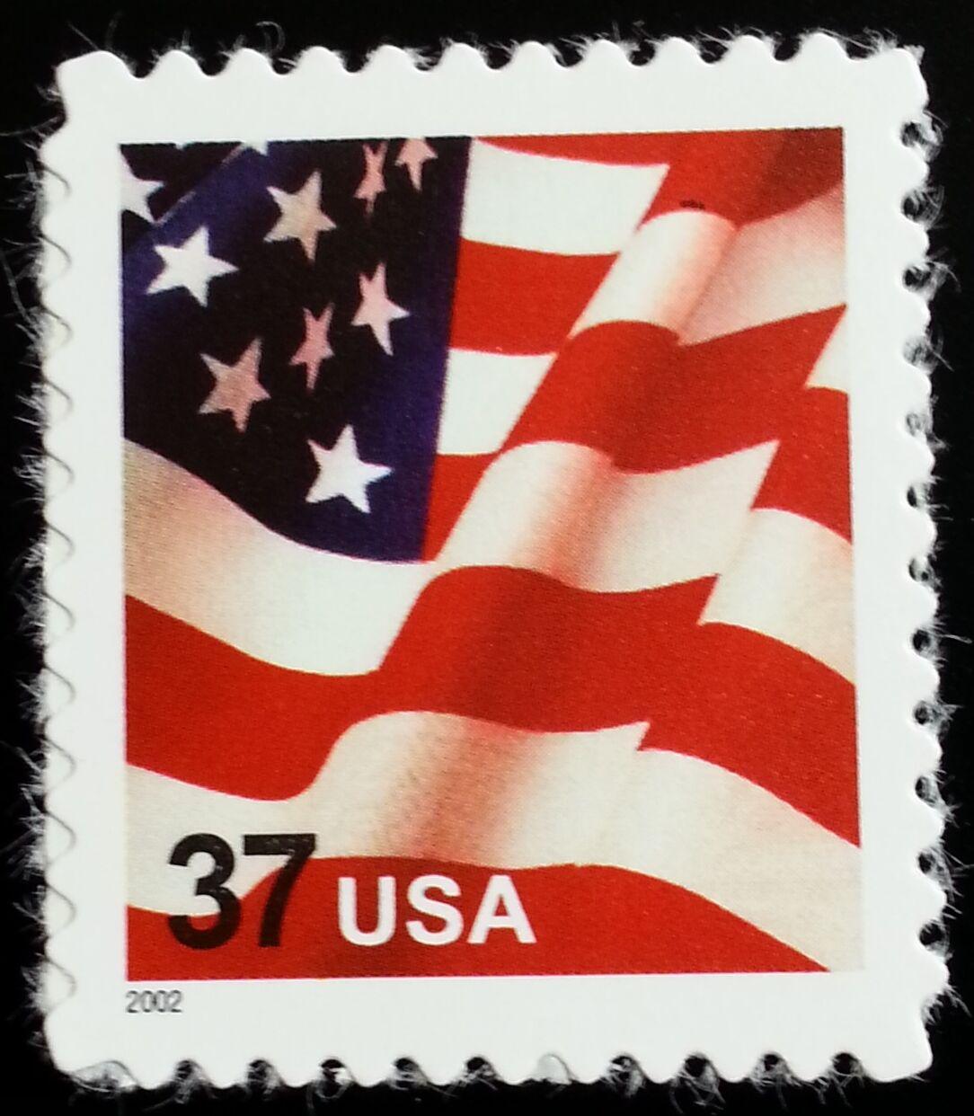 2002 37c Denominated American Flag, SA Scott 3630 Mint