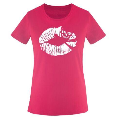 Einfarbig KUSSMUND Damen Frauen T-Shirt Gr XS bis XXL Diverse Farben