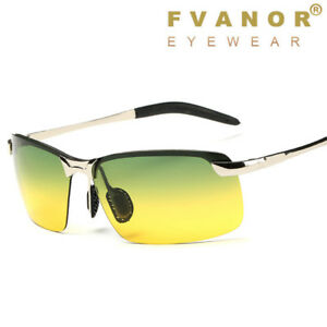 Day & Night Vision Glasses Polarized HD Sunglasses Driving UV400 Outdoor Eyewear