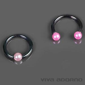 1,2mm Piercing Lèvre Perforation De Sourcil Tragus Hélice Rose,rose Vif Perle Fyliy1oo-08013406-849127912