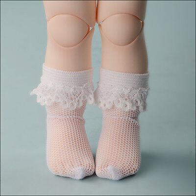 1//6 BJD YOSD USD Dear Doll Size White Cellua Knee Stocking Dollmore