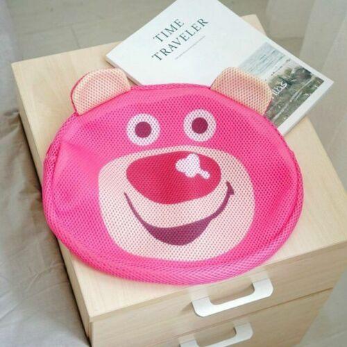 sesame street lotso bear Laundry Bags mesh bags zip storage handbag cartoon new