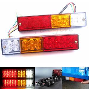20-LED-Anhaenger-Rueckleuchten-Set-Ruecklichter-Heckleuchten-Lastwagen-Utes-USW