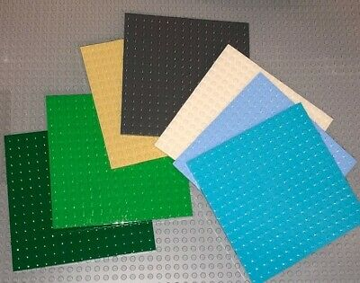 Preowned - You Pick The Color Quantity of 5 Lego 8x16 Studded Base Plates