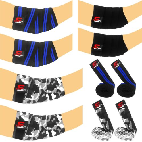 ELBOW Wraps Weight Lifting Bandage Strap Guard Powerlifting Pad Sleeves Gym Camo
