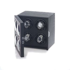 uhrenbeweger bullseye 4 uhren krokoleder led beleuchtung watchwinder 4260110171328 ebay. Black Bedroom Furniture Sets. Home Design Ideas