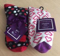 (2) Women's Charter Club Slipper Socks One Size