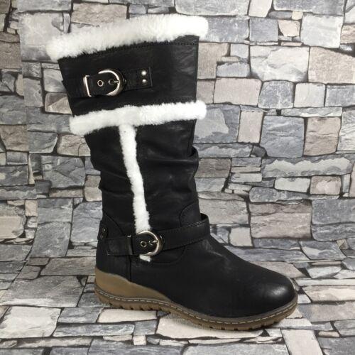 Damen Stiefel warm gefüttert Winter Boots Outdoor Stiefeletten Schnee NEU ST301