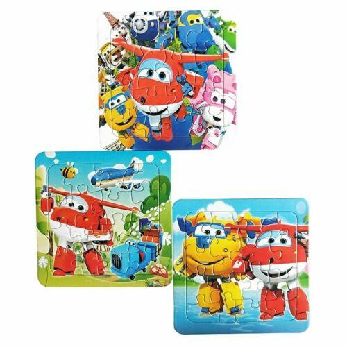 Puzzles Cartoon Super Wings Toy for Children 16 PCS Puzzle Game