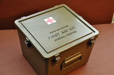 Military First Aid Kit Hard Plastic Watertight Case (NEW).