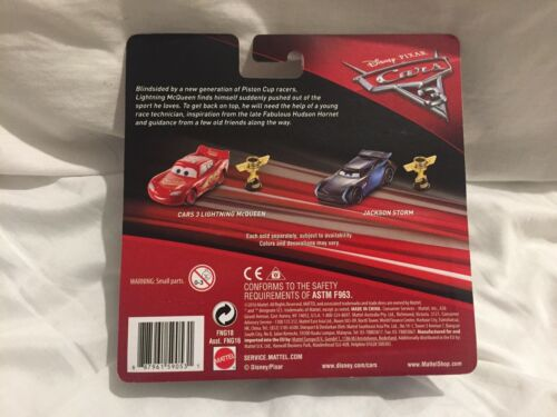 Disney Pixar Cars 3 JACKSON STORM WITH PISTON CUP TROPHY Diecast TOKYO DRIFT