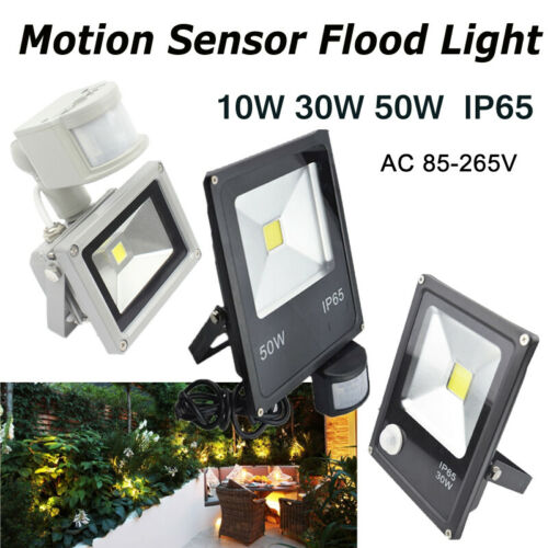 LED Flood Light Motion Sensor PIR 110V 220V PIR Motion Sensor 10//30//50W