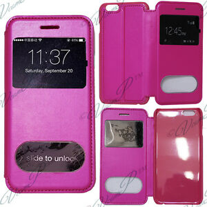 Apple-iPhone-6S-Plus-Housse-Etui-Coque-Pochette-Plastique-View-Case-ROSE