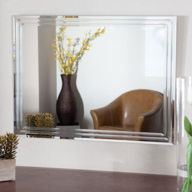 Decor Wonderland Frameless Tri Bevel Wall Mirror 23 5w X 31 5h In