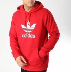 Trefoil Hoodie Red 2XL Mens | Adidas trefoil hoodie, Mens